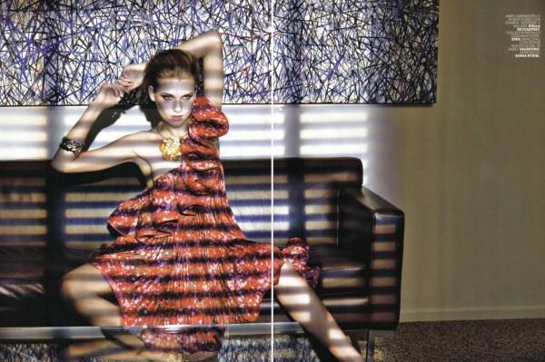Laura Blokhina by Tiziano Magni Marie Claire Italy, May 2010 stella mccartney s/s 2010 ruffle dress
