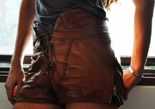 Alexander Wang S/S 2010 brown leather tie up shorts stevie dance stylist editor russh magazine