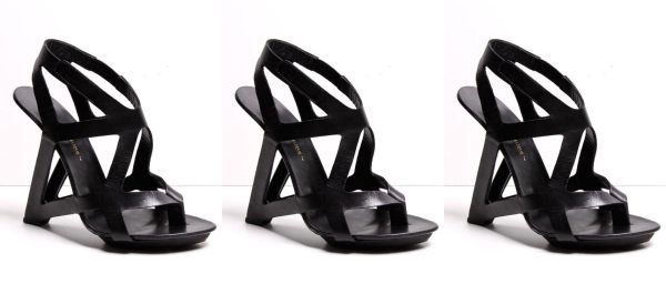 united nude black frame triangle heel oaknyc.com oak
