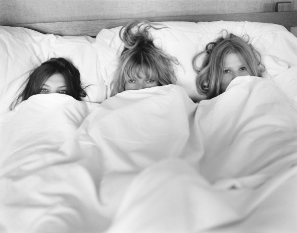 Daria Werbowy, Kate Moss and Lara Stone by Bruce Weber