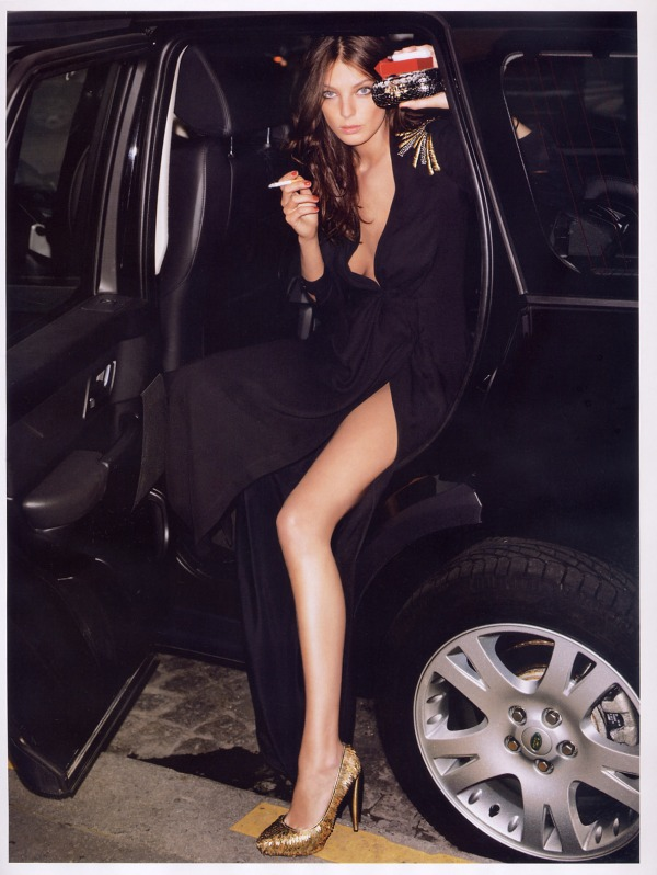 Daria Werbowy in Noctambule  Styled by Emmanuelle Alt  Photographed by Terry Richardson  Vogue Paris May 2007 fashion editorial hey crazy