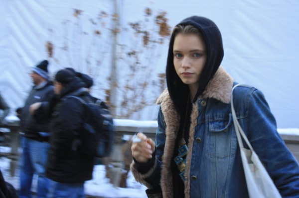 abbey lee kershaw model fashion denim shearling jacket trends winter 2011 hey crazy