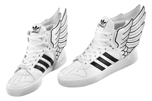 adidas Originals by Originals Jeremy Scott JS Wings 2.0 Leather high top trainers fashion