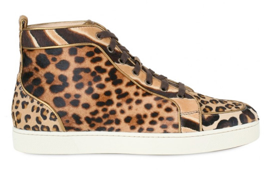 Rantus Orlato high top Leopard sneaker trainers Christian Louboutin Men Fall/Winter 2010 Collection fashion sportswear