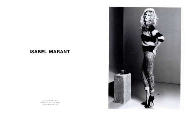Isabel Marant Fall/Winter 2010 advertising campaign model kate moss hey crazy blog