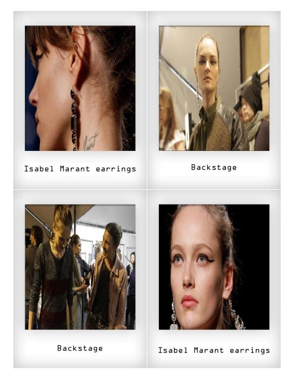 Isabel Marant Dangle drop diamante earrings autumn fall winter 2010 2011 fashion accessory trends