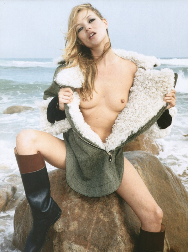 Kate Moss nude Pop magazine Autumn_Winter_2004_balenciaga shearling 2010 trends fashion editorial hey crazy balenciaga shearling jacket