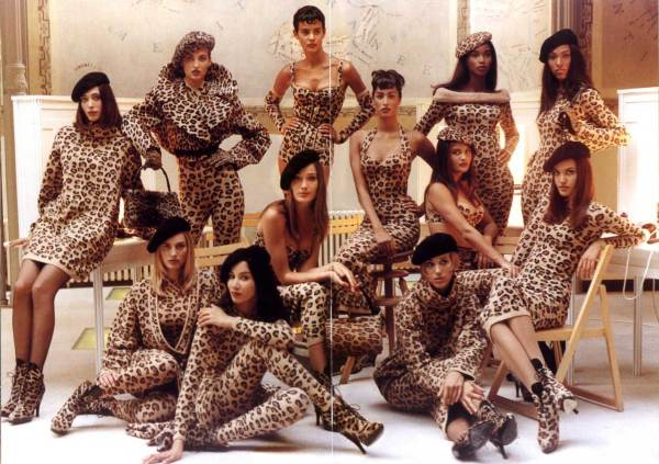 leopard-print-models fashion trends