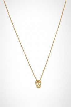 Gold skull necklace by Vanryck MonShowroom.com hey crazy fashion acessory trends