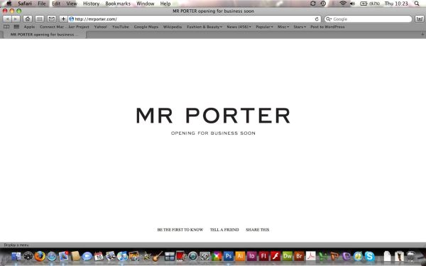 Mr Porter site screengrab net-a-porter.com men designer fashion retail website hey crazy