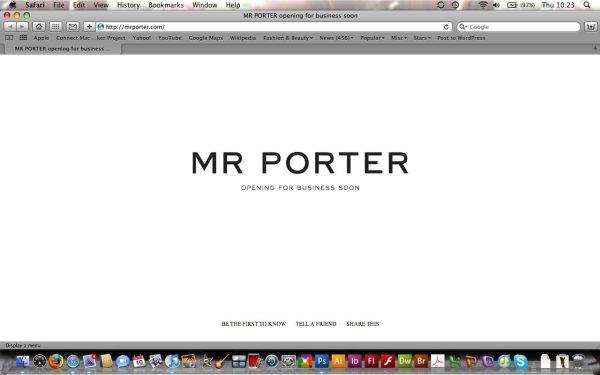 Mr Porter site screengrab net-a-porter.com men designer fashion retail website hey crazy