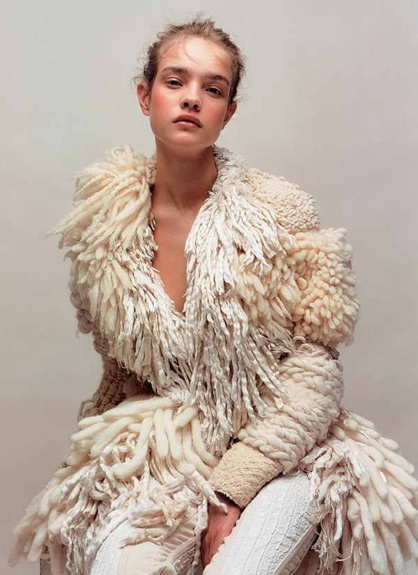 fashion model Natalia V, Jean-Baptiste Mondino, Numero 37 magazine hey crazy fashion photographer wool coat