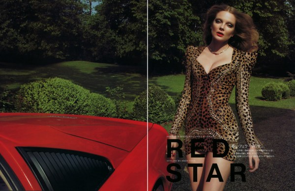 Eniko Mihalik by Camilla Akrans  Vogue Nippon August 2010 hey crazy blog fashion editorial leopard print dress