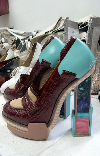 Balenciaga A/W 2010 bakelite brick boot shoes fashion