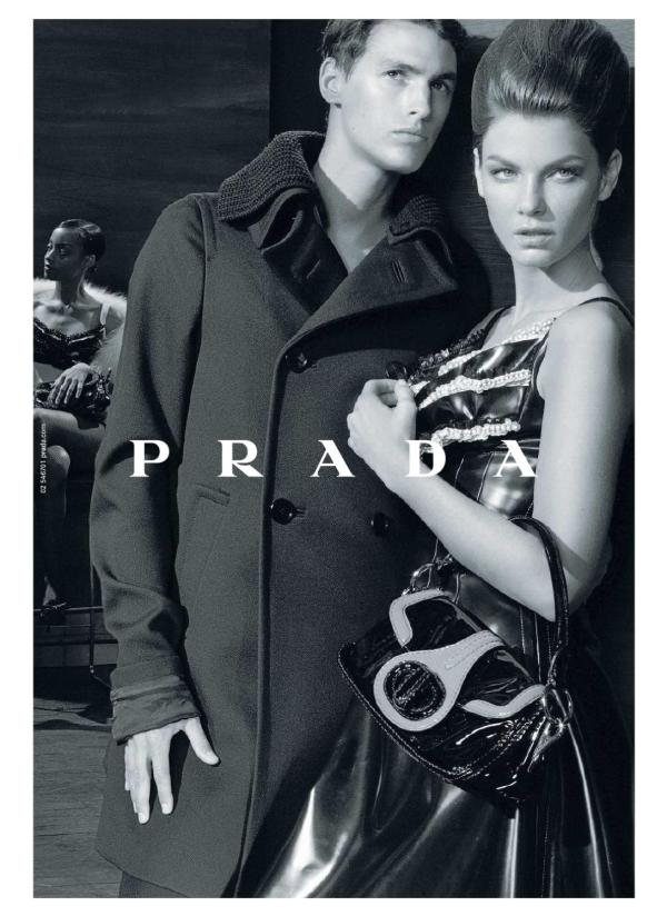 Mathias Bergh & Angela Lindvall by Steven Meisel for Prada F/W 2010 advertising campaign fashion hey crazy