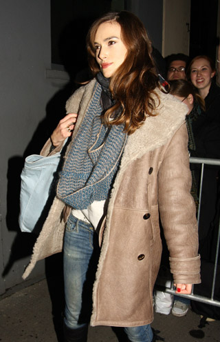 Keira Knightley shearling coat fashion trends winter 2010 2011 hey crazy