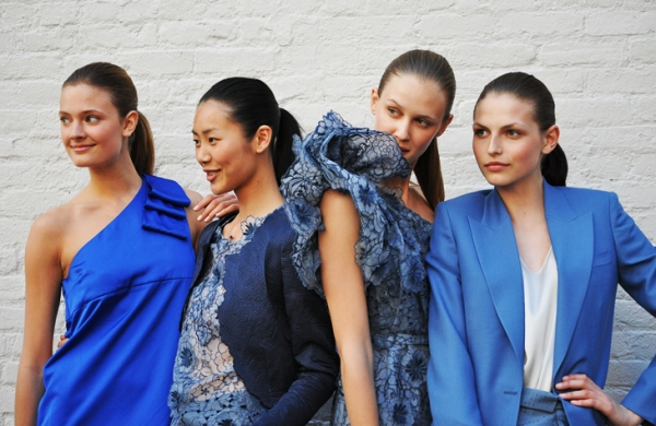 Stella McCartney Resort 2011 collection fashion presentation blue colour trends