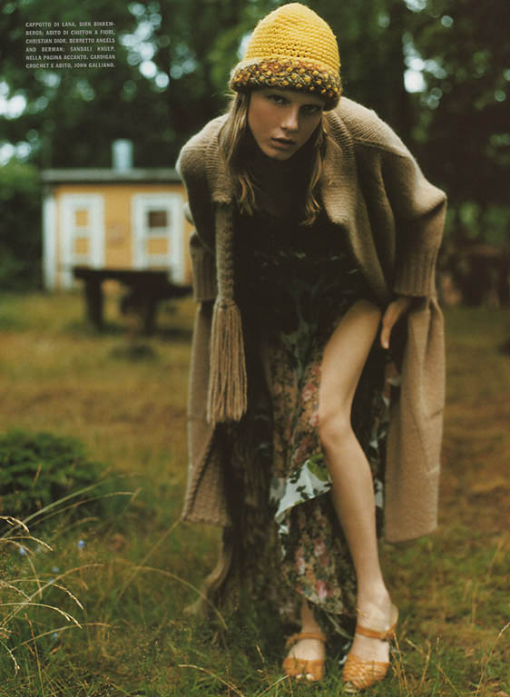 Angela Lindvall in a fairy-tale mood photographed by Mikael Jansson model fashion editorial