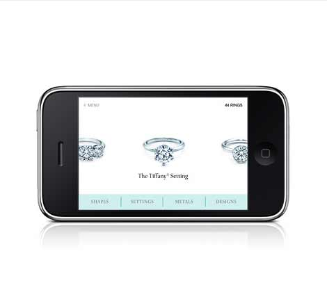 Tiffany & C. iPhone® App for Engagement Rings hey crazy image