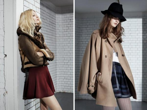 Topshop Autumn Winter 2010 fashion lookbook preview hey crazy blog shearling jacket camel cape coat 2010 trends