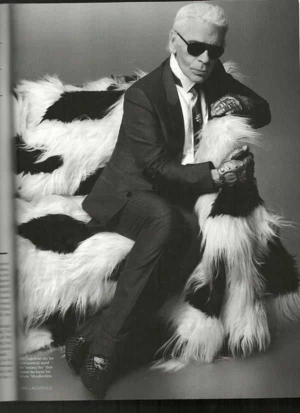 Karl Lagerfeld UK Vogue July 2010 fashion designer chanel icon