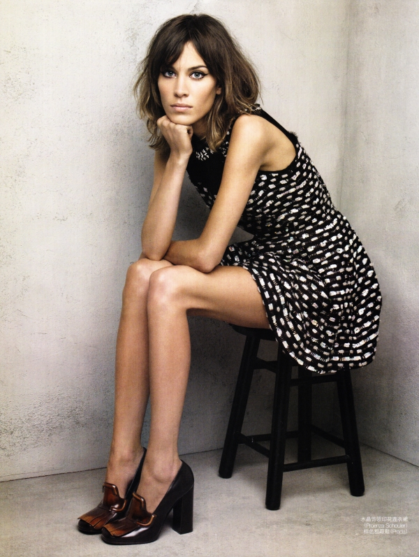 Alexa Chung by Patrick Demarchelier Vogue China July 2010 fashion editorial british style icon hey crazy