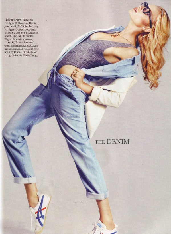 new key pieces elle uk july 2010 fashion denim trends
