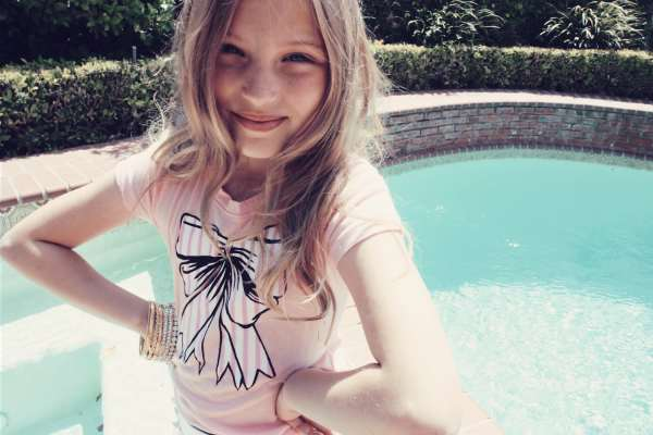 Little Fox Zoe by Kim Gordon Wildfox couture LA models kids fashion style trends 2010