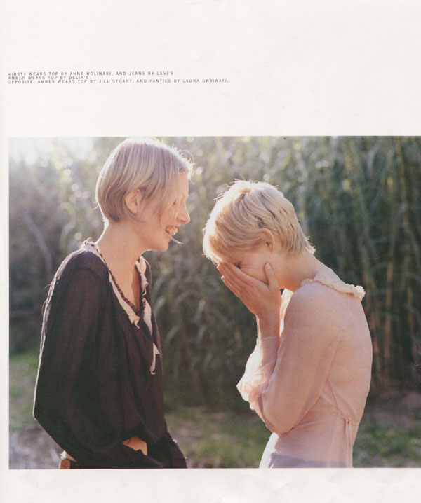 Kirtsy Hume & Amber Valetta by Amanda de Cadenet Nylon US fashion editorial hey crazy