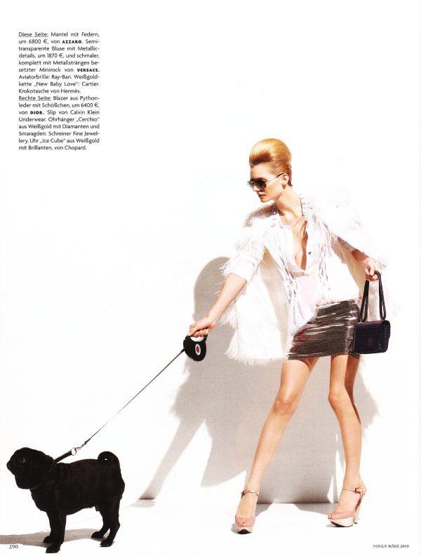 model Karolina Karl by photographer Thomas Schenk Vogue Germany March 2010, hey crazy blog
