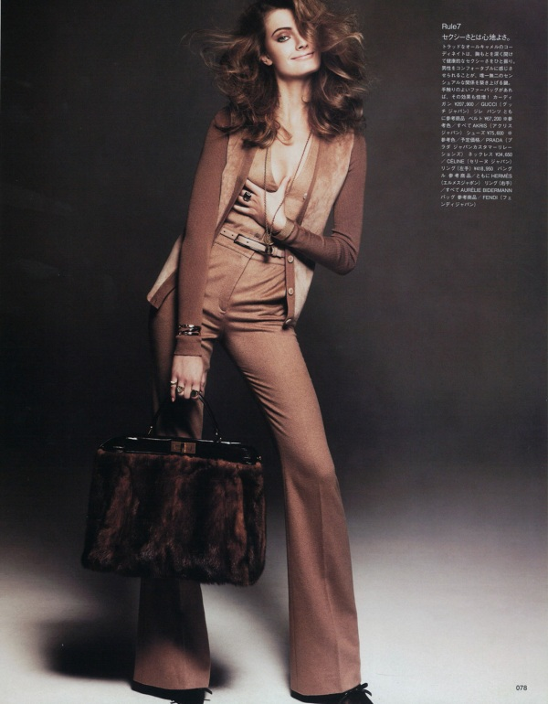 Constance Jablonski by Andreas Sjodin Vogue Nippon September 2010 fendi, gucci, winter fashion collection, hey crazy blog