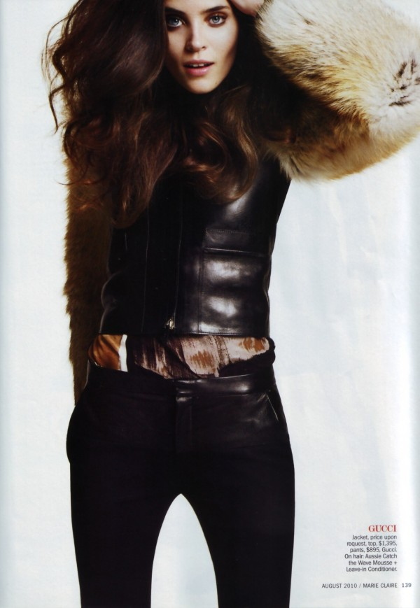 Gucci jacket & pants  model Alison Nix by photographer David Oldham  US Marie Claire August 2010 hey crazy blog