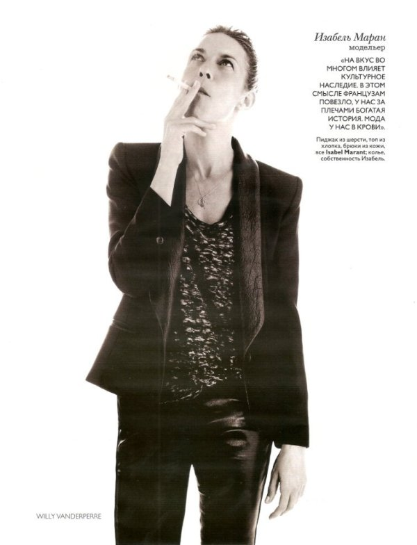 french fashion designer isabel marant Vogue Russia August 2010
