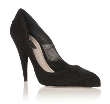 Erica by Kurt Geiger  Black court shoe