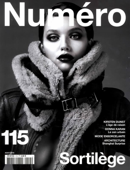Emily Didonato by Anthony Maule Numéro 115 August 2010 cover fashion hey crazy blog