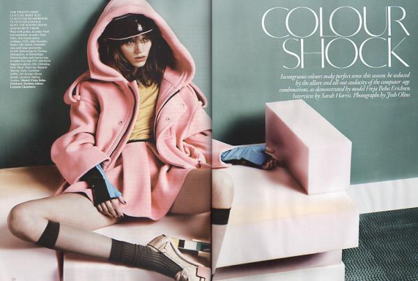 Freja Beha Erichsen by Josh Olins  UK Vogue August 2010 fashion editorial hey crazy blog