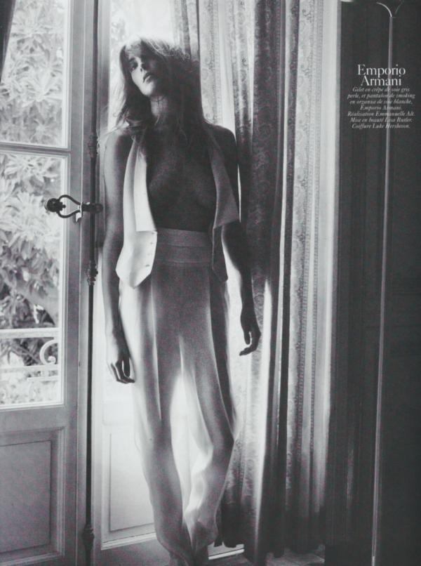 Daria Werbowy by David Sims Vogue Paris August 2010 emporio armani fashion collection