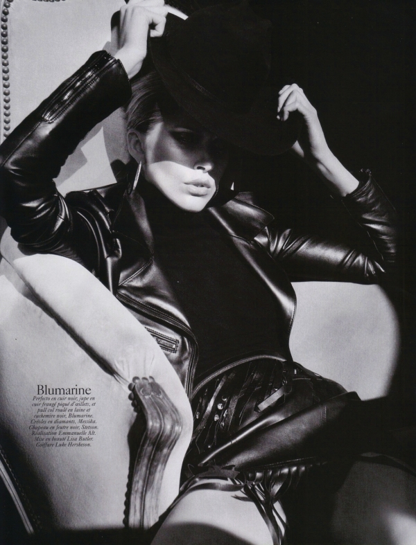 Iselin Steiro by David Sims  Vogue Paris August 2010 blumarine fashion collection