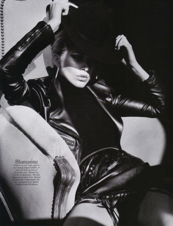 Iselin Steiro by David Sims  Vogue Paris August 2010 blumarine fashion collection
