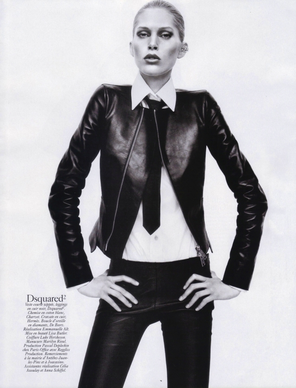 Iselin Steiro by David Sims  Vogue Paris August 2010 dsquared fashion collection