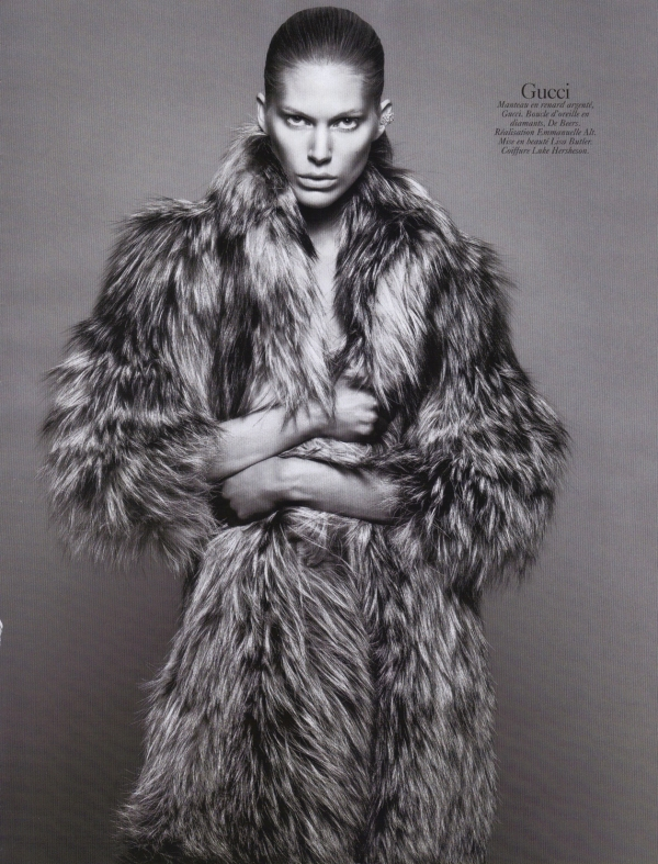 Iselin Steiro by David Sims  Vogue Paris August 2010 gucci fashion collection