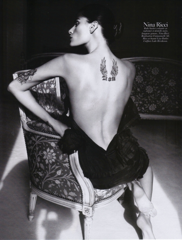 Isabeli Fontana in Nina Ricci by David Sims Vogue Paris August 2010