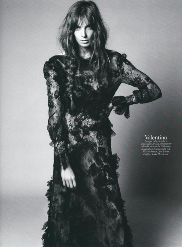 Daria Werbowy by David Sims Vogue Paris August 2010 valentino fashion collection