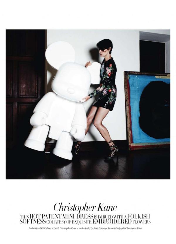Tasha Tilberg in Christopher Kane by Michel Comte Harper's Bazaar UK August 2010
