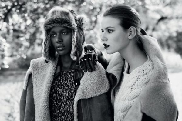 Angelique, Gwen, Hind & Imogen by Josh Olins  Topshop Fall/Winter 2010-11