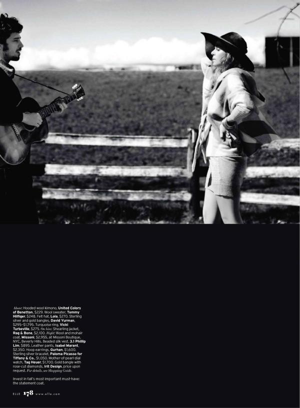 Binki Shapiro & Fabrizio Moretti by Serge Leblon ELLE US July 2010 fashion editorial music