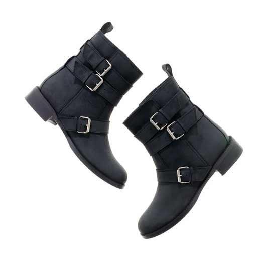 the buckled biker boot madewell fashion