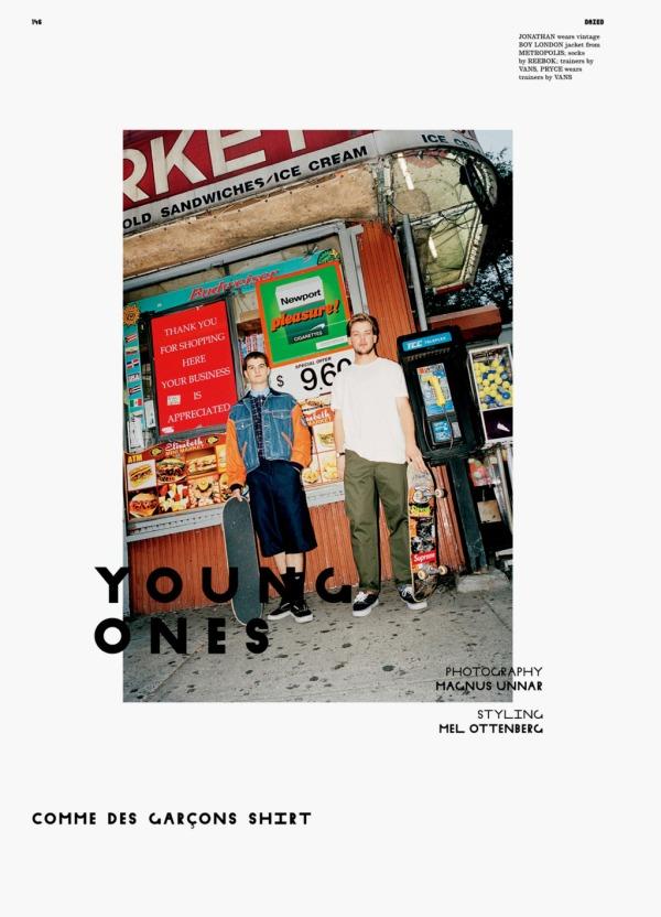 Jacqueline Jabnlonski, Jonathan Puglia, Pryce Holmes, & Alex Olsen by Magnus Unnar. Styled by Mel Ottenberg Dazed & Confused September 2010