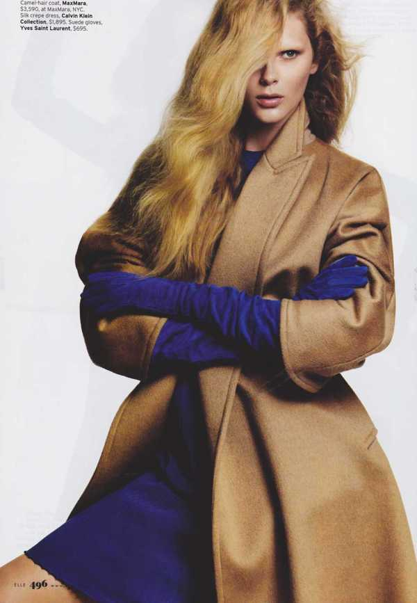 Antonella Graef, Hailey Clauson, Kristy Kaurova and Sofie Schwensen by Terry Tsiolis Elle US, September 2010 fashion editorial camel colour fashion trends winter 2010 hey crazy blog 2