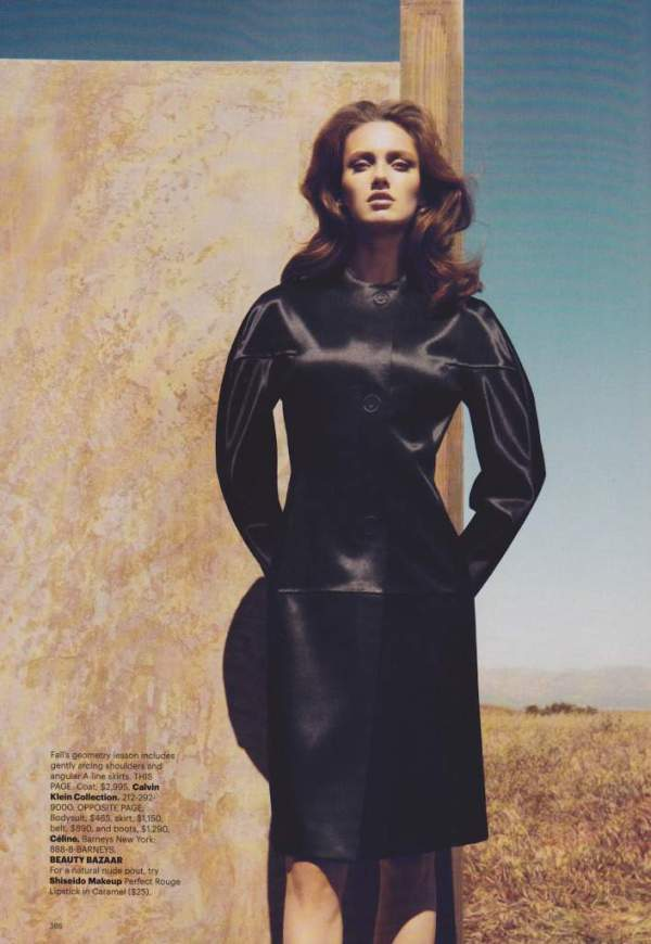 Karmen Pedaru by Camilla Akrans Harper's Bazaar US, September 2010 fashion editorial